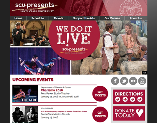 Web Design for Santa Clara University