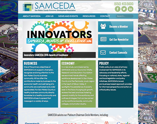 Web Design for SAMCEDA
